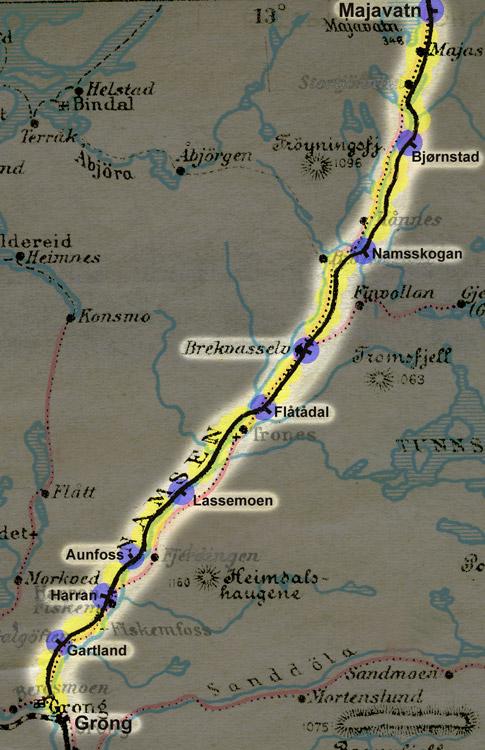 kart nordlandsbanen Sveins jernbanefotos kart nordlandsbanen